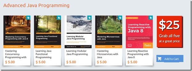 Java 5 for $25 Bundles–Packt book promotion   Oracle