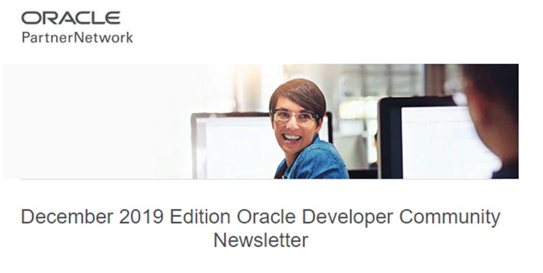 Developer newsletter December 2019